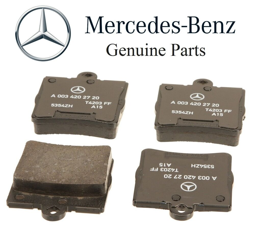 mercedes r171 w203 chrysler crossfire rear brake pads genuine 0034202720 ebay. Black Bedroom Furniture Sets. Home Design Ideas