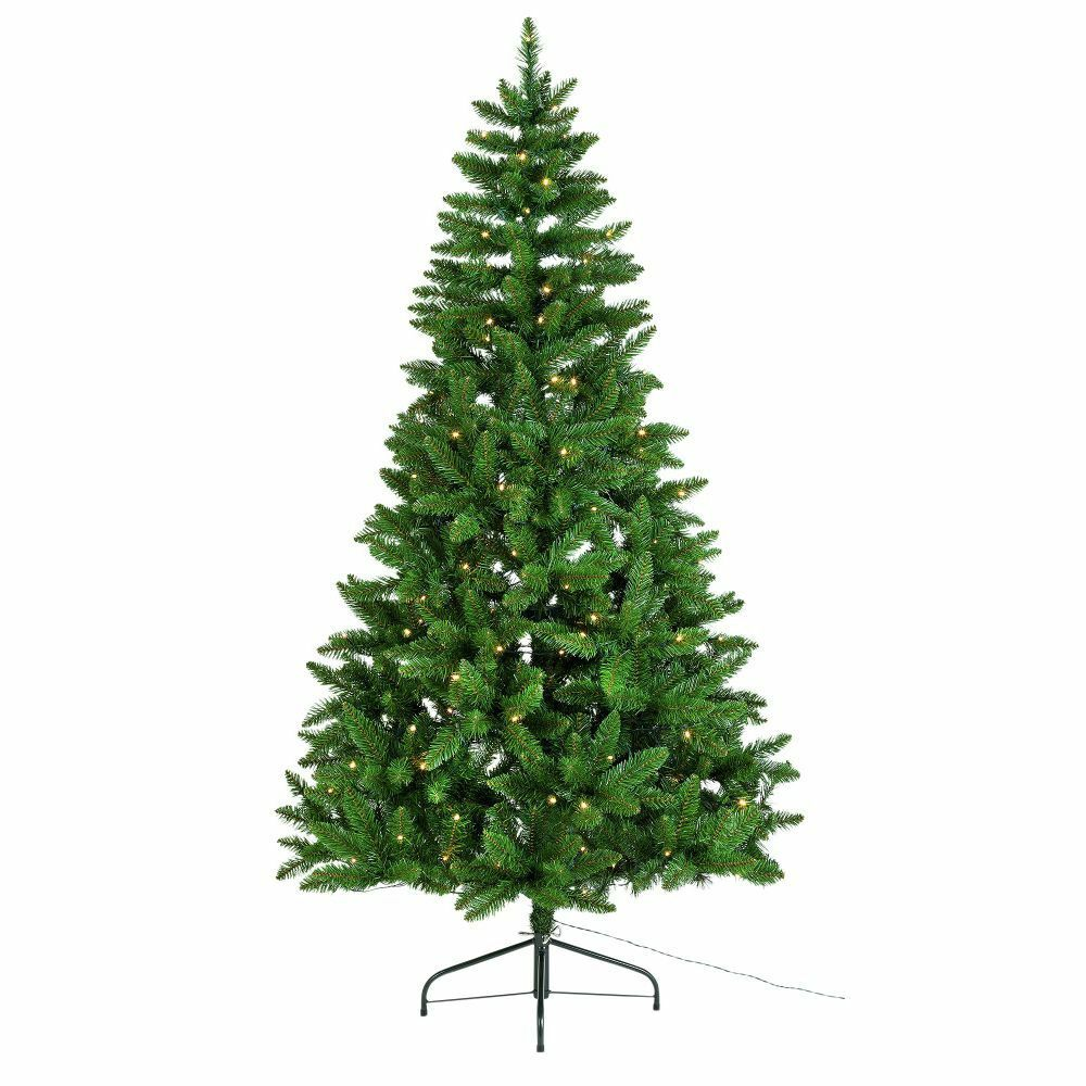 Green Spruce 180 Light Pre Lit Christmas Tree 6ft Ebay