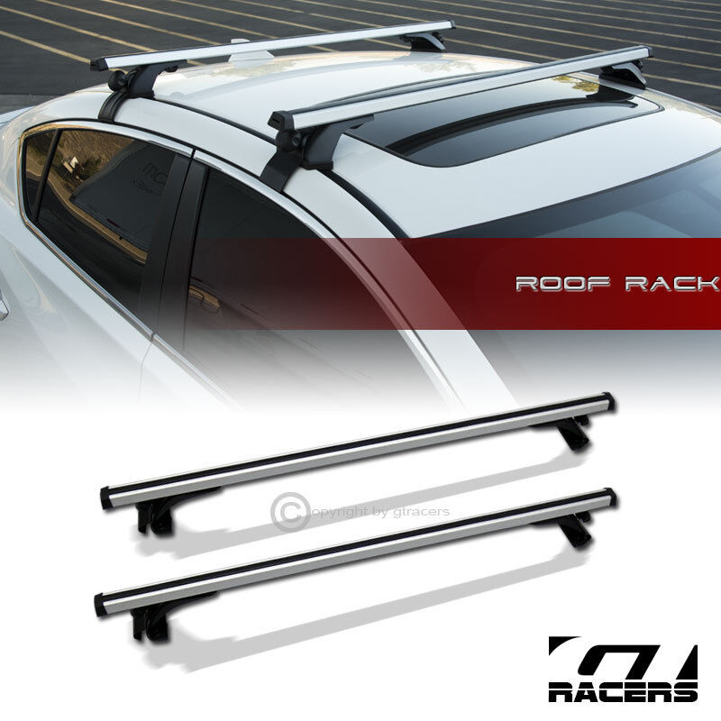 Universal 55 Quot Silver Window Frame Roof Top Rail Rack Tube
