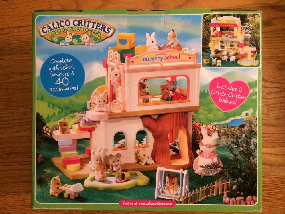 Baby Bedroom In A Box Special: Calico Critters CC2109 Baby Play Nursery School New In Box