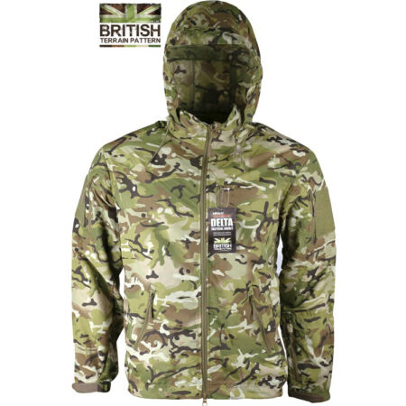 img-Mens British Army Combat Military Waterproof Nylon Hooded Rain Jacket Camo Smock