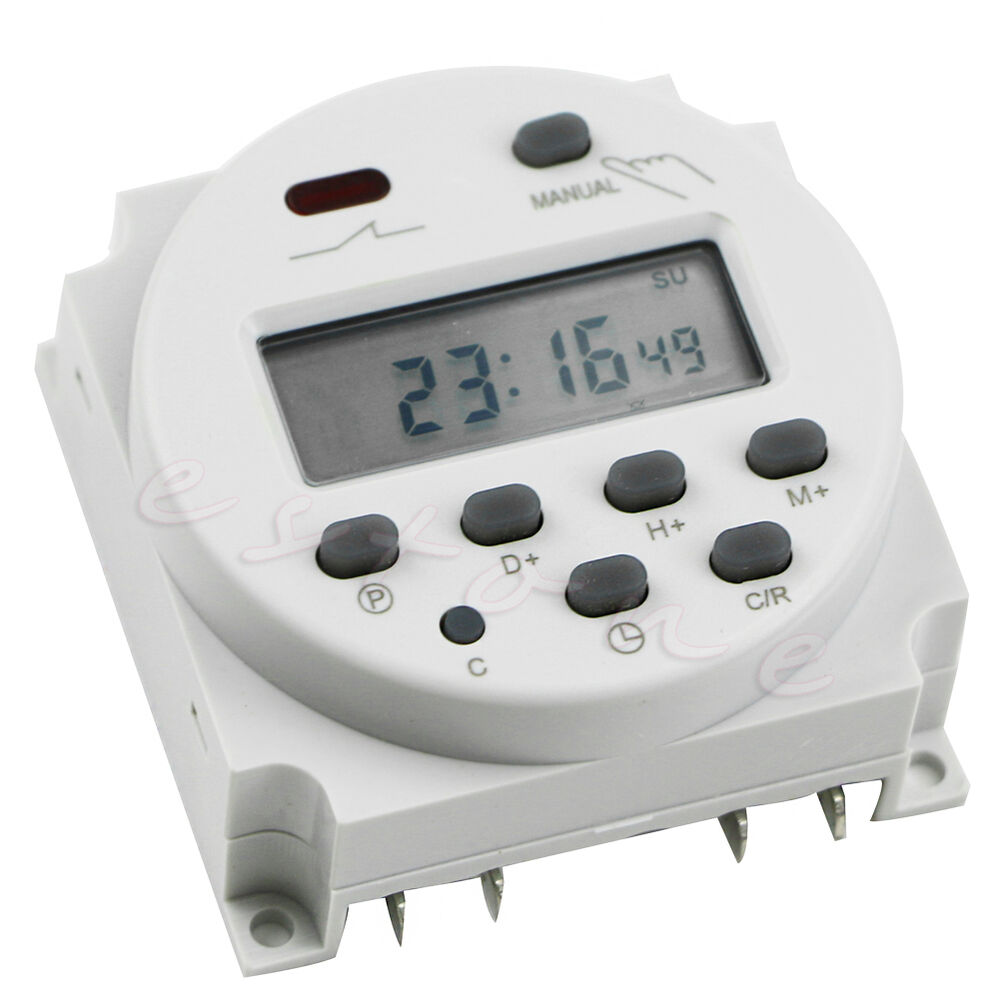 Digital Power Timer : Ac v a lcd timer switch display digital power