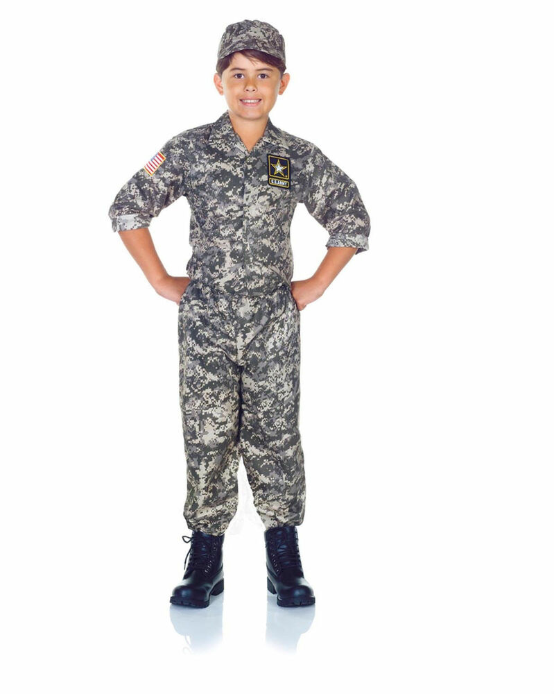 CHILD KIDS US ARMY CAMO CAMOUFLAGE SOLDIER MILITARY MARINE ...