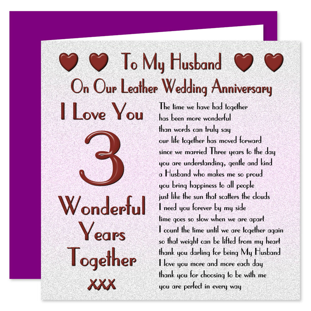 My Husband 1st - 70th Years - On Our Wedding Anniversary Card - I Love You Verse