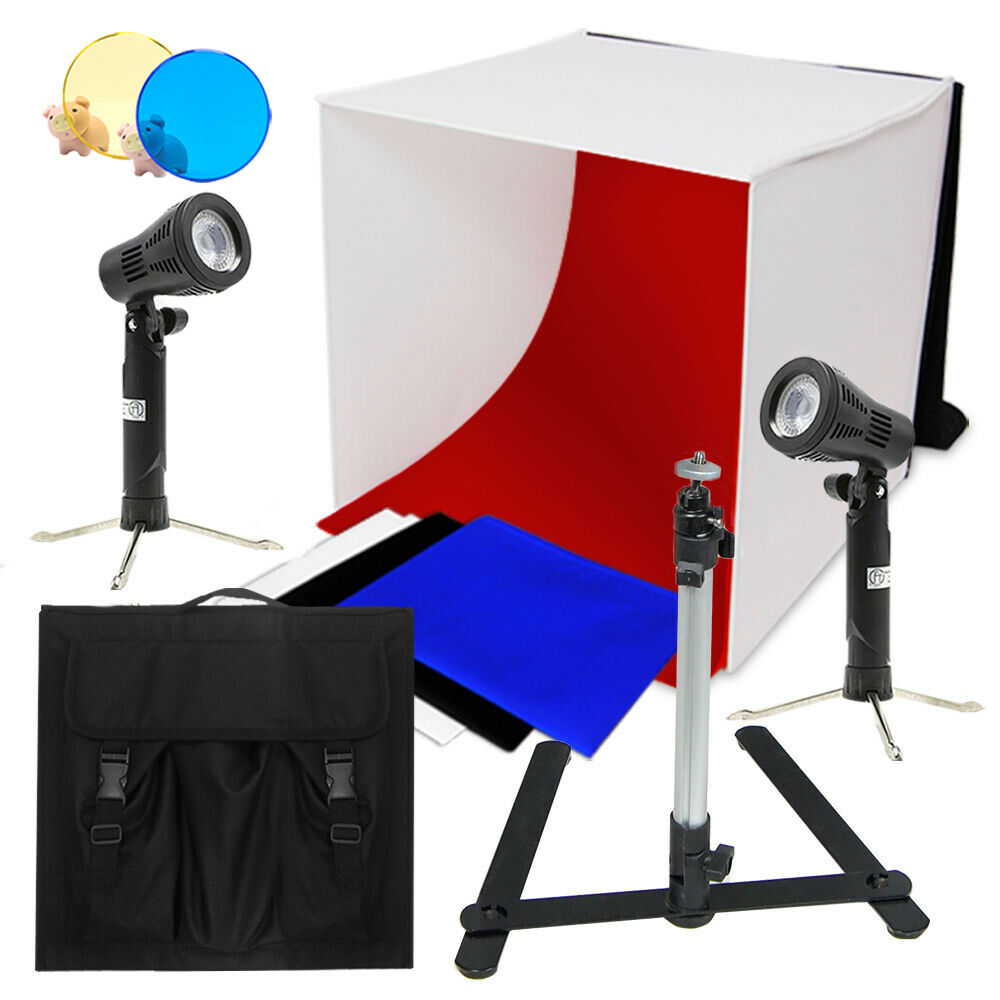 "Optex Photo Studio Lighting Kit Review: 24"" Photo Studio Photography Light Tent Backdrop Kit"