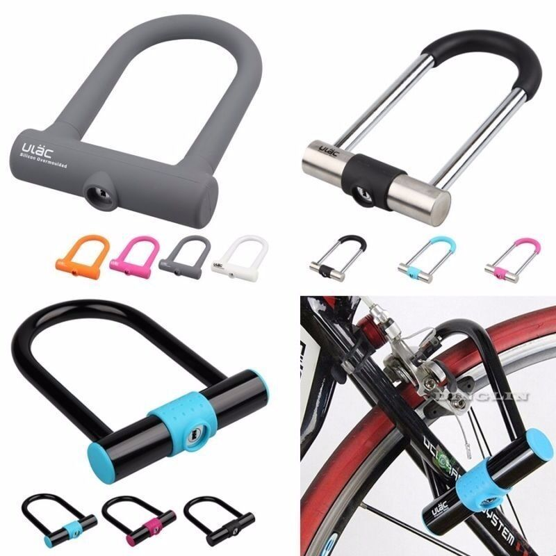super security heavy duty motorcycle motorbike bike bicycle cycling cable u lock ebay. Black Bedroom Furniture Sets. Home Design Ideas