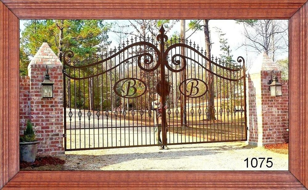 Quot Wrought Iron Style Quot Custom Built Driveway Entry Gate 18
