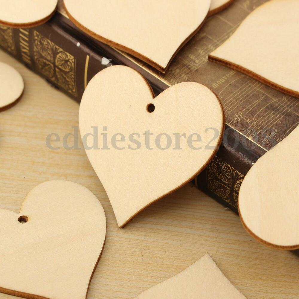 Crafts For Weddings Rustic: 25Pcs Rustic Wood Wooden Love Heart Wedding Table Scatter