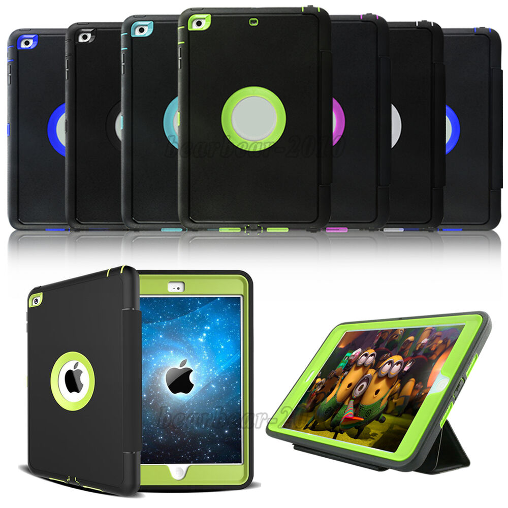 For Ipad 2 3 4 Mini Air 2 Pro 9 7 Shockproof Stand Flip