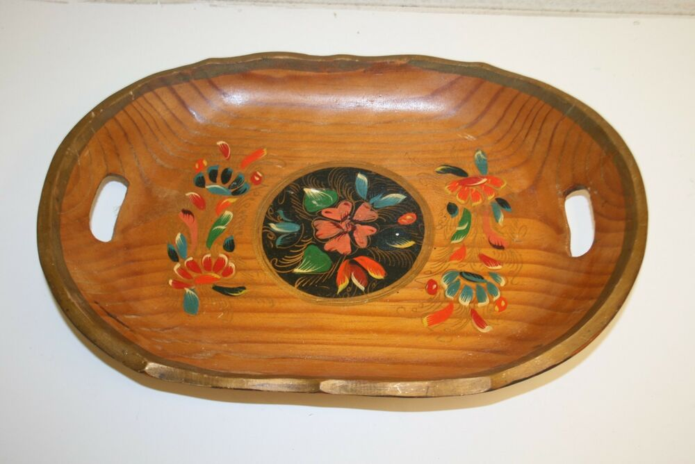 Hand Painted Wooden Platter