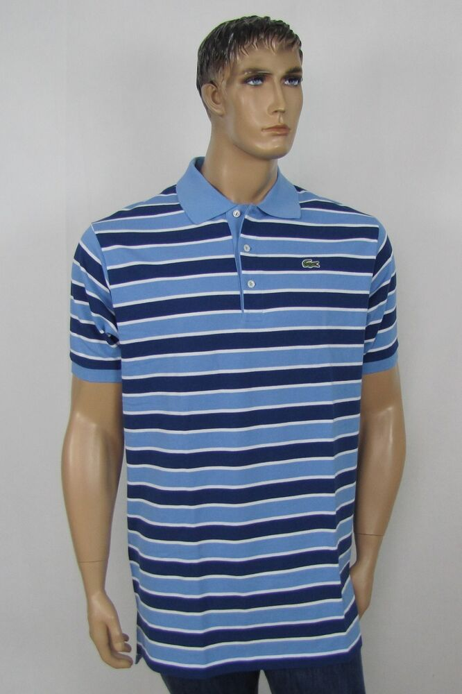 Lacoste Mens Big And Tall Polo Shirts Short Sleeve Stripe
