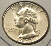 1947-D~~WASHINGTON~~SILVER QUARTER~BU-UNC BEAUTY