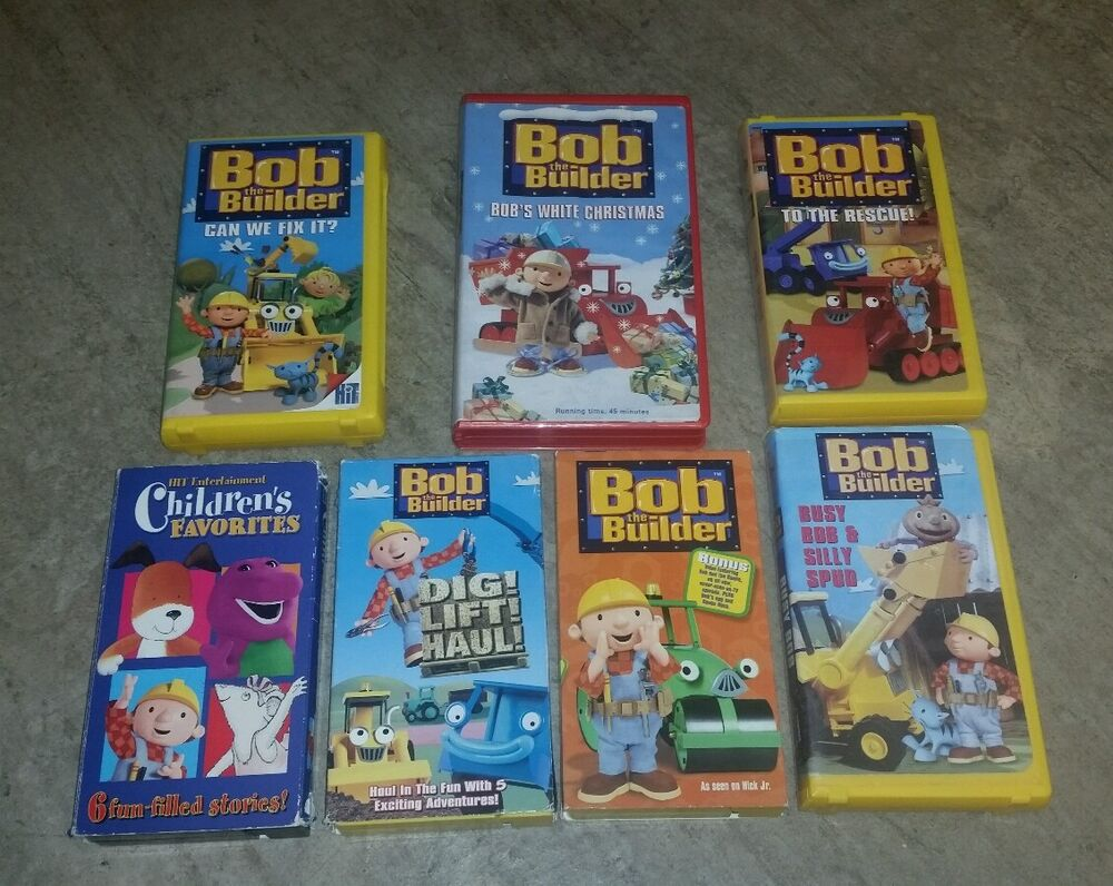 Bob the builder vhs 7 lot movie tape CAN WE FIX IT DIG LIFT HAUL ...