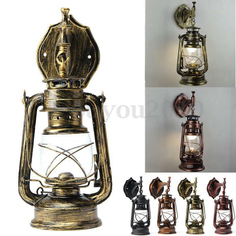 retro antique vintage exterior lantern lamp wall sconce 87989