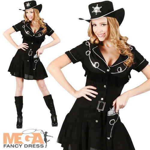 western cowgirl hat ladies fancy dress wild west womens cowboy adults costume ebay. Black Bedroom Furniture Sets. Home Design Ideas