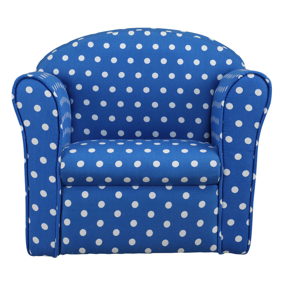 Kids Children's Tub Chair Baby Armchair Sofa Stool Blue ...