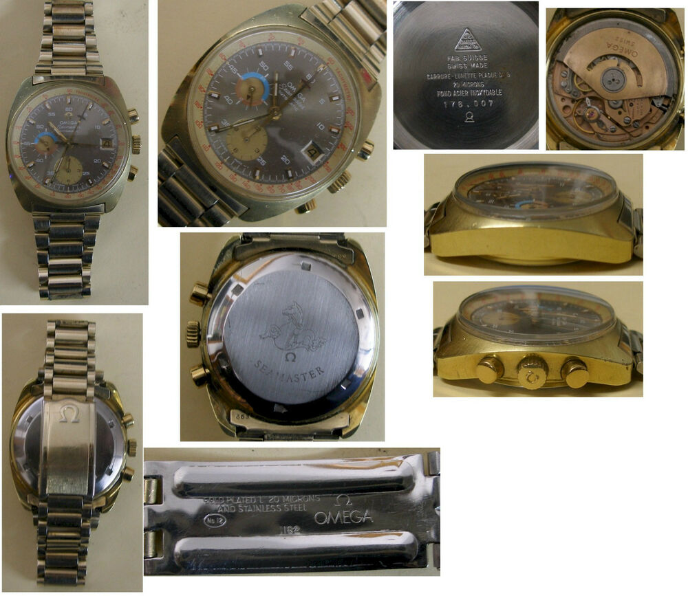 Vintage Omega Seamaster Chronograph Tidy And Clean Gold