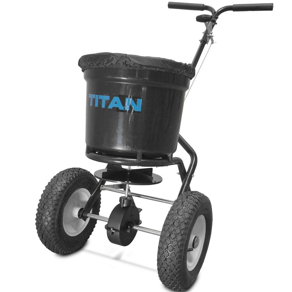 Broadcast Spreader Turf : Titan lb professional broadcast spreader for lawn