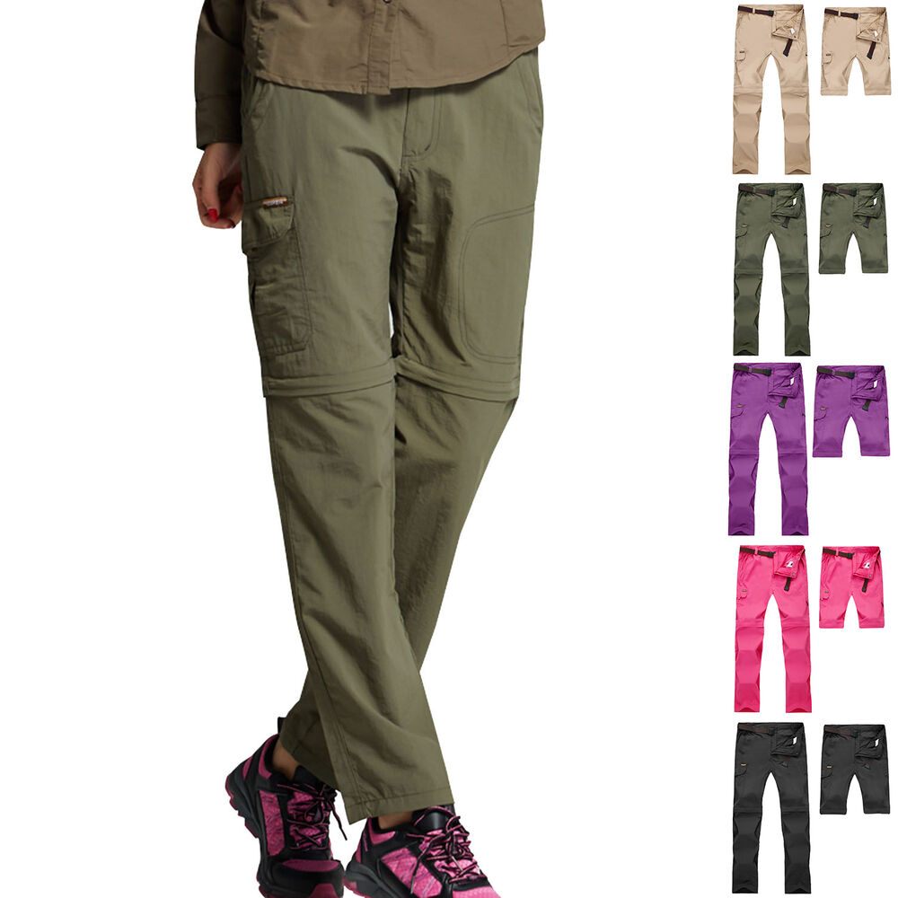 Women Detachable Outdoor Anti-UV Quick Dry Pants Hiking ...