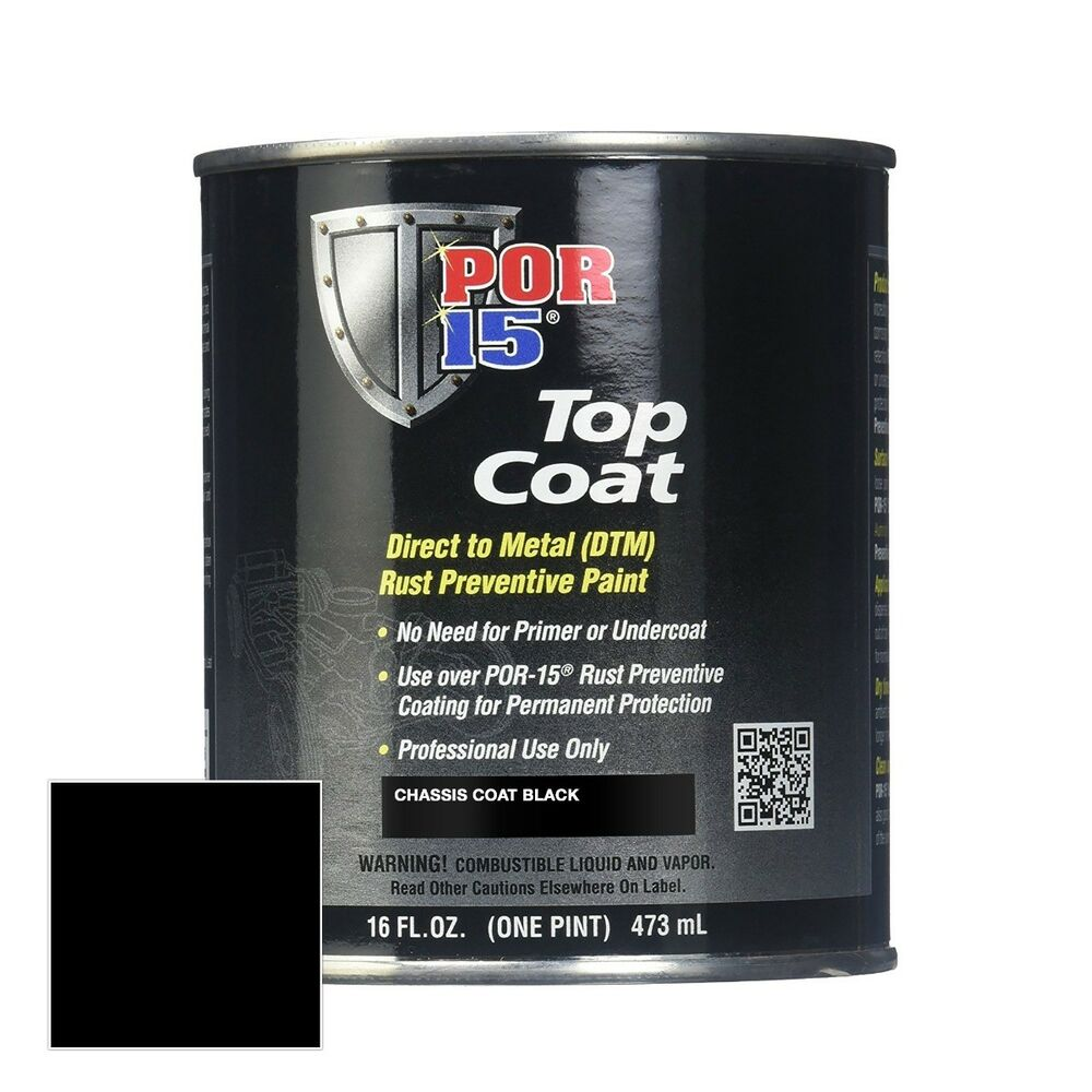 por 15 45908 top coat chassis black semi gloss 1 pint can