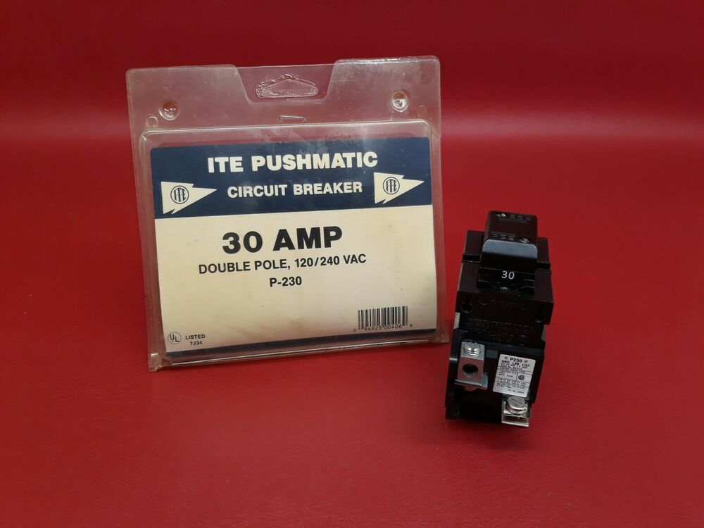 new in box 30 amp pushmatic p230 ite double or 2 pole