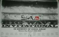 2006-2007 EDDIE Aikau WOULD GO OFFICIAL POSTER SURFING contest HAWAII Quiksilver
