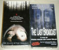 LAST BROADCAST & THE BLAIR WITCH PROJECT VHS Horror Must Have Movie Collection