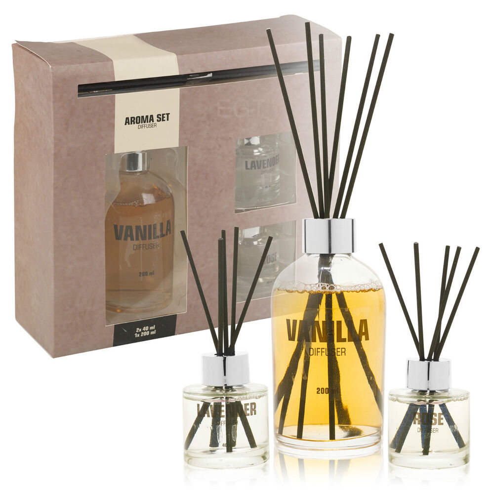 Fragrance Reed Diffuser Aroma Gift Set 3 Scents Fragrant