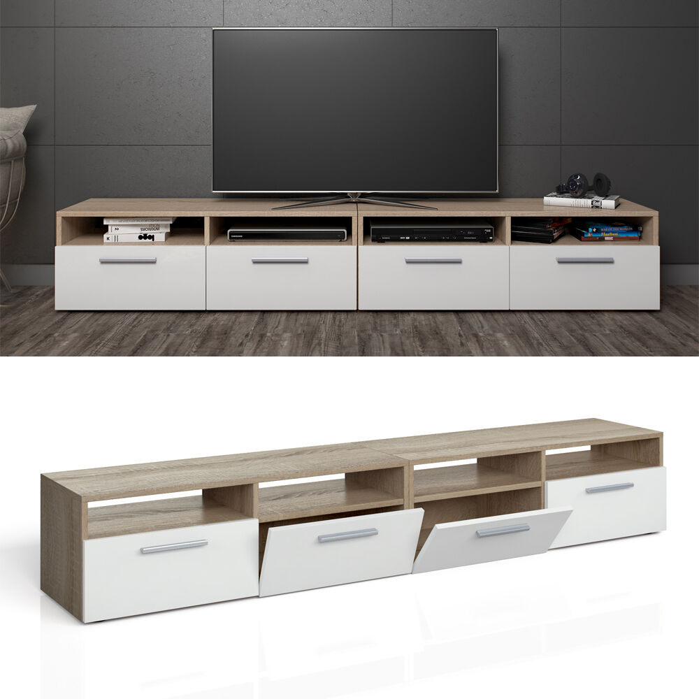 vicco lowboard set diego 180 cm fernsehtisch sideboard highboard tv board ebay. Black Bedroom Furniture Sets. Home Design Ideas
