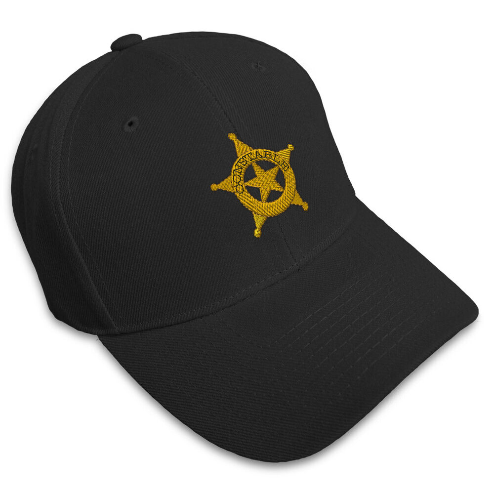 Constable police embroidery embroidered adjustable hat