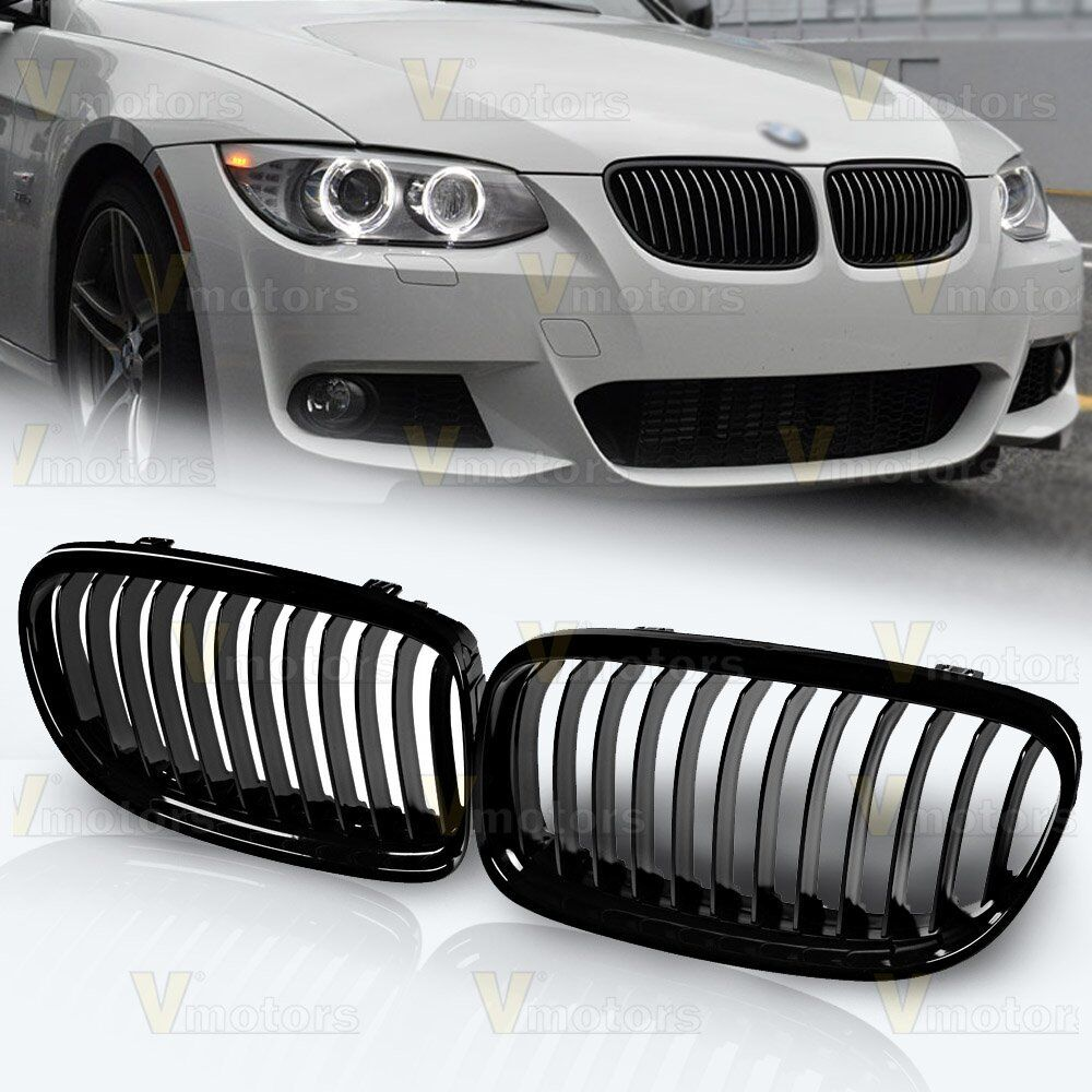2011 Bmw 328i Accessories >> Fit 2009-2011 BMW E90 E91 LCI 325i 328i 4D Front Kidney Grill Grille Gloss Black | eBay