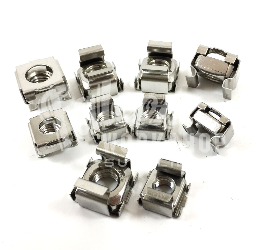 cage nuts a2 stainless steel server rack cabinet pc clip nuts m6 m8 ebay. Black Bedroom Furniture Sets. Home Design Ideas