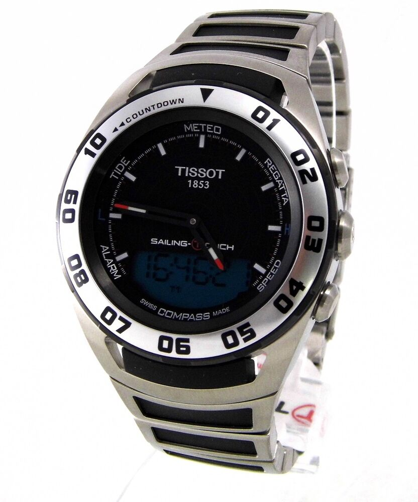 tissot sailing touch black herren chronograph uhr neu 7611608246443 ebay. Black Bedroom Furniture Sets. Home Design Ideas