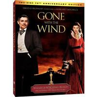 GONE WITH THE WIND FULL SCREEN DVD MOVIE 2 DISC SET 70TH ANNIVERSARY EDITION