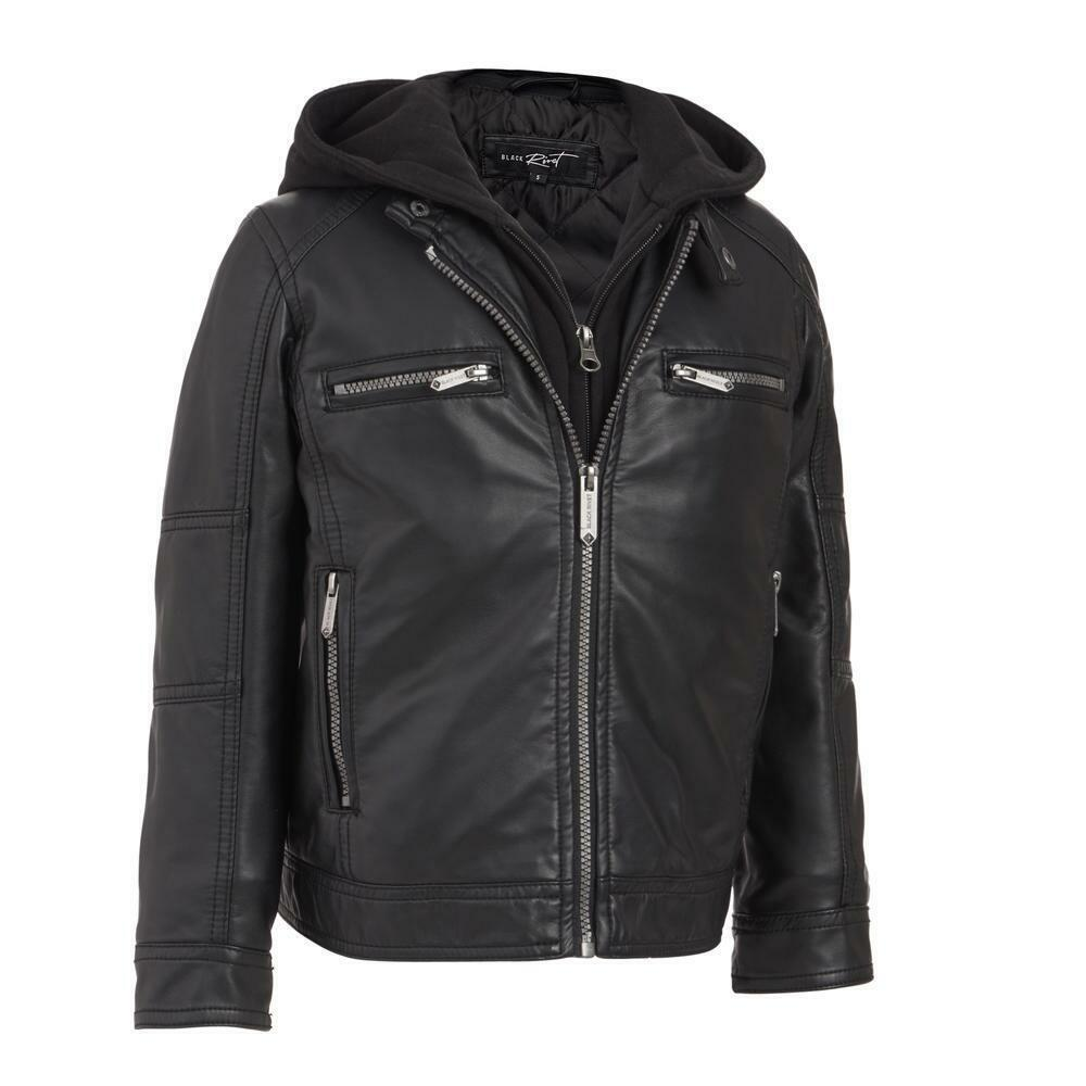 Black rivet leather jackets