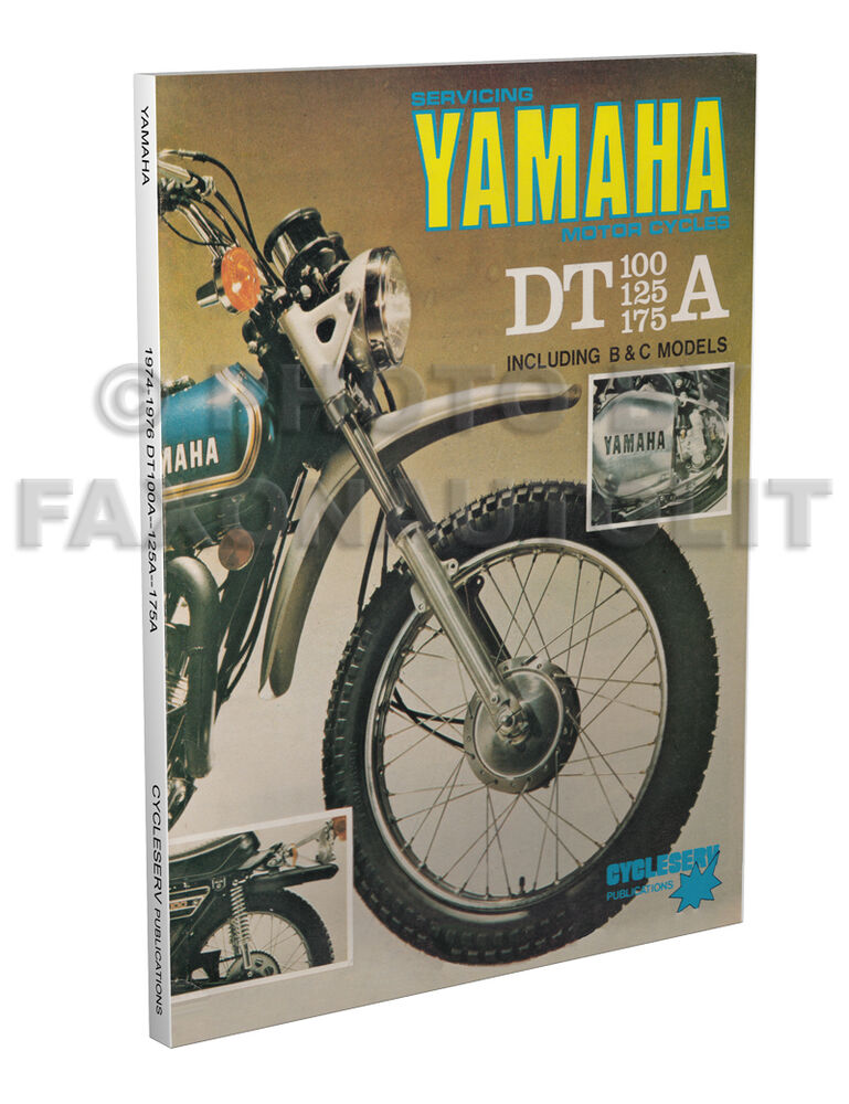 1974 1975 1976 yamaha dt enduro shop manual dt100 dt125 dt175 cyclserv repair ebay Sony Television Manuals Sony Television Manuals