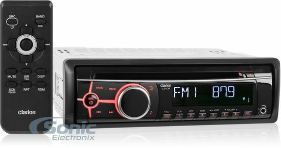 Clarion Car Stereo: Clarion CZ102 Single-DIN In-Dash CD Car Stereo Receiver W