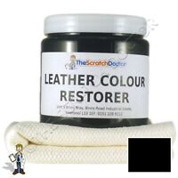 BLACK Leather Dye Colour Restorer for Faded and Worn Leather Sofa etc.