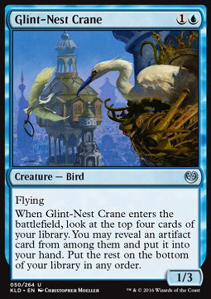2x Glitzernest-Kranich Glint-Nest Crane Kaladesh Magic