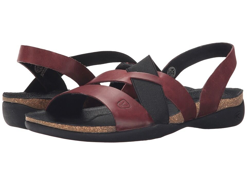 Keen Dauntless Strappy Red Dahlia Comfort Walking Sandal ...