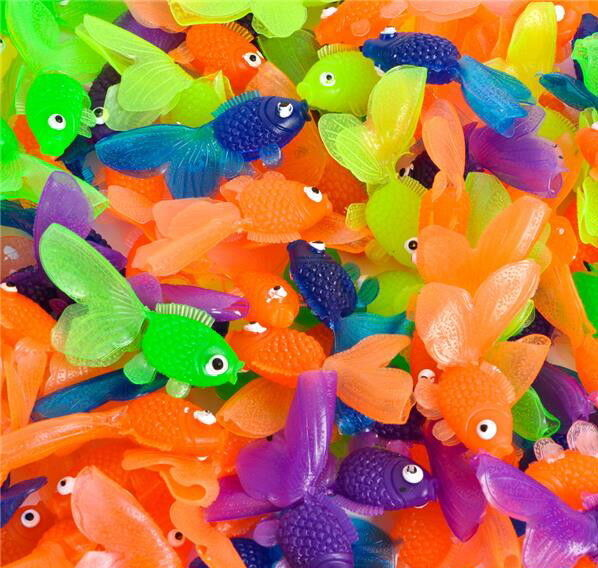 "144 VINYL GOLDFISH FISH, 2"" VENDING, PARTY FAVOR, BIRTHDAY"