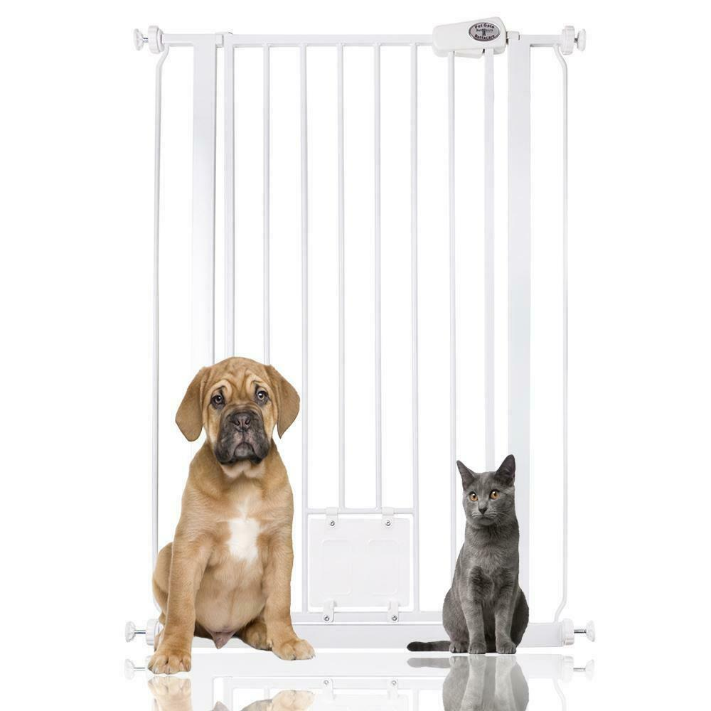 Bettacare Dog Gate With Lockable Cat Flap Premium Pet