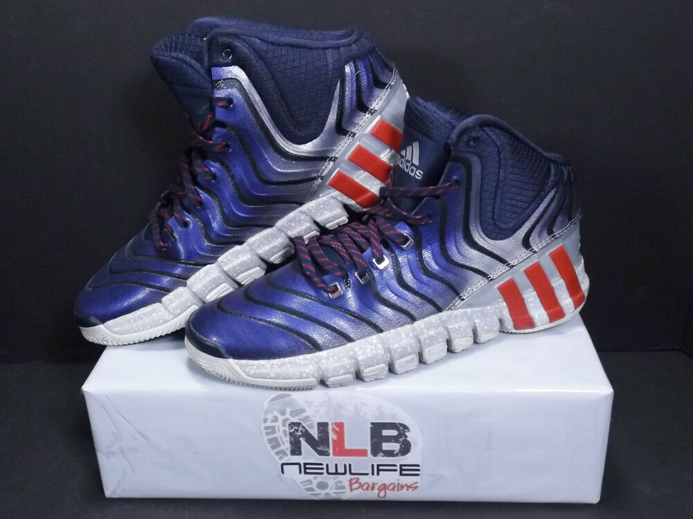 sports shoes 18312 d19dc Details about Adidas Adipure Crazyquick 2  G98405  Navy Red White Men s  Size 8