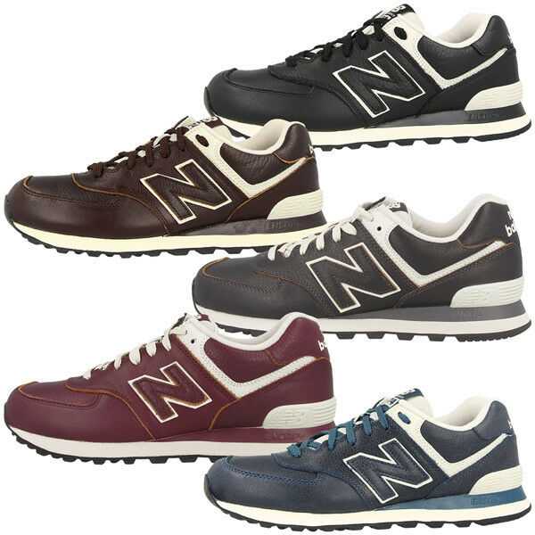new balance ml574 leder schuhe herren sneaker ml 574 viele farben 373 410 576 ebay. Black Bedroom Furniture Sets. Home Design Ideas