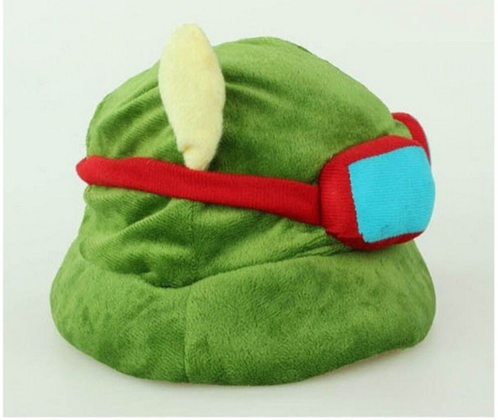 Teemo Hat Cool Cute Cosplay Green League Of Legends Lol -5283