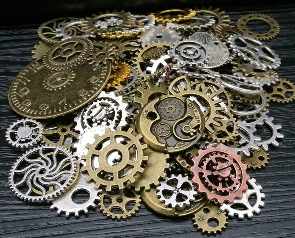 Antique Wheels And Gears : G pieces lots vintage steampunk wrist watch parts gears