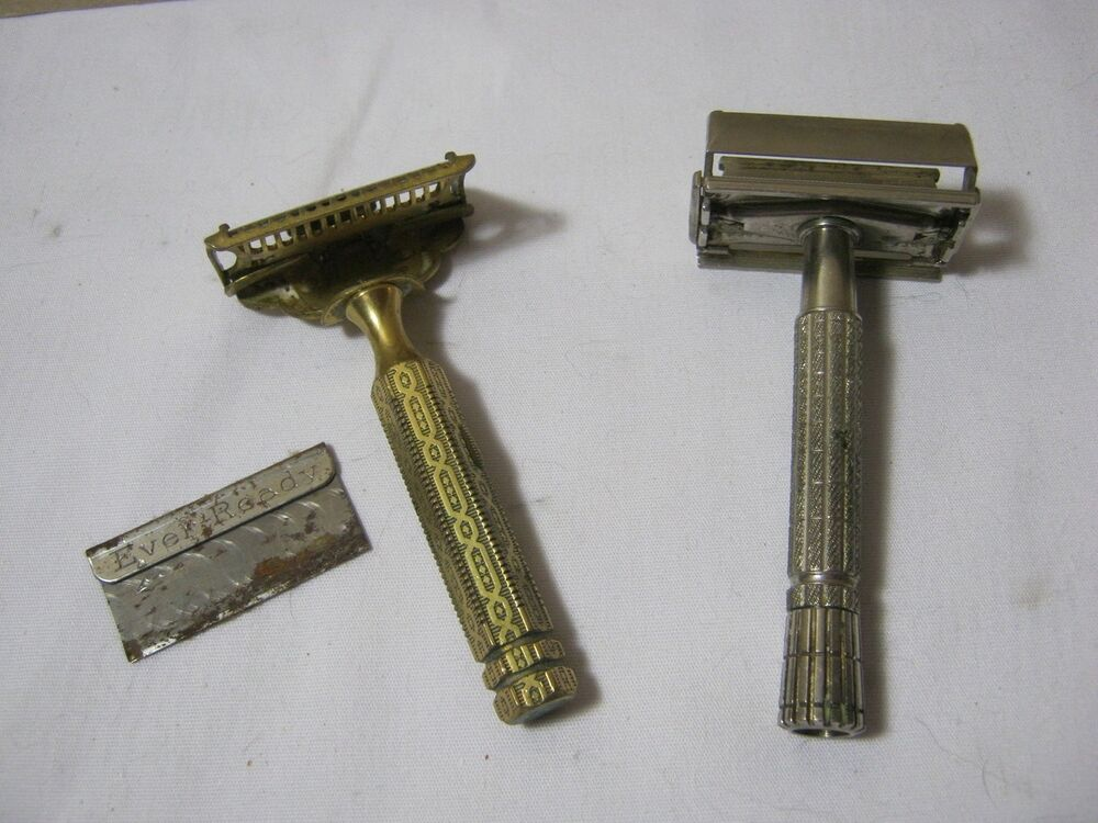 Everready Amp Gillette Safety Razors W One Blade Early