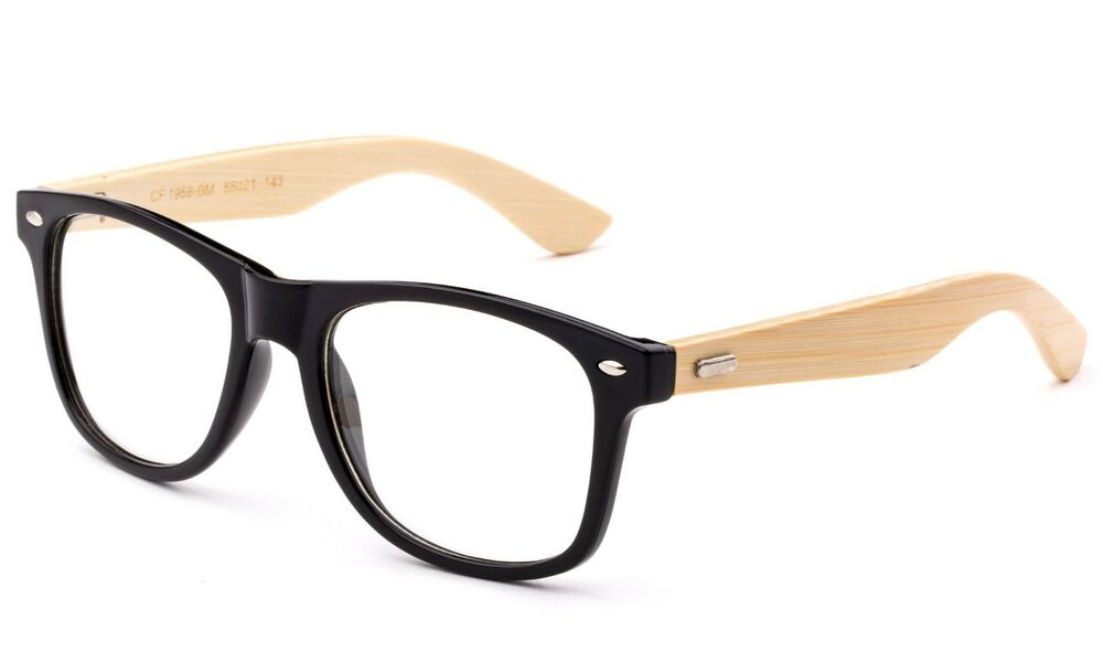 Real Bamboo Temple Classic BLACK Frame Reading Glasses ...