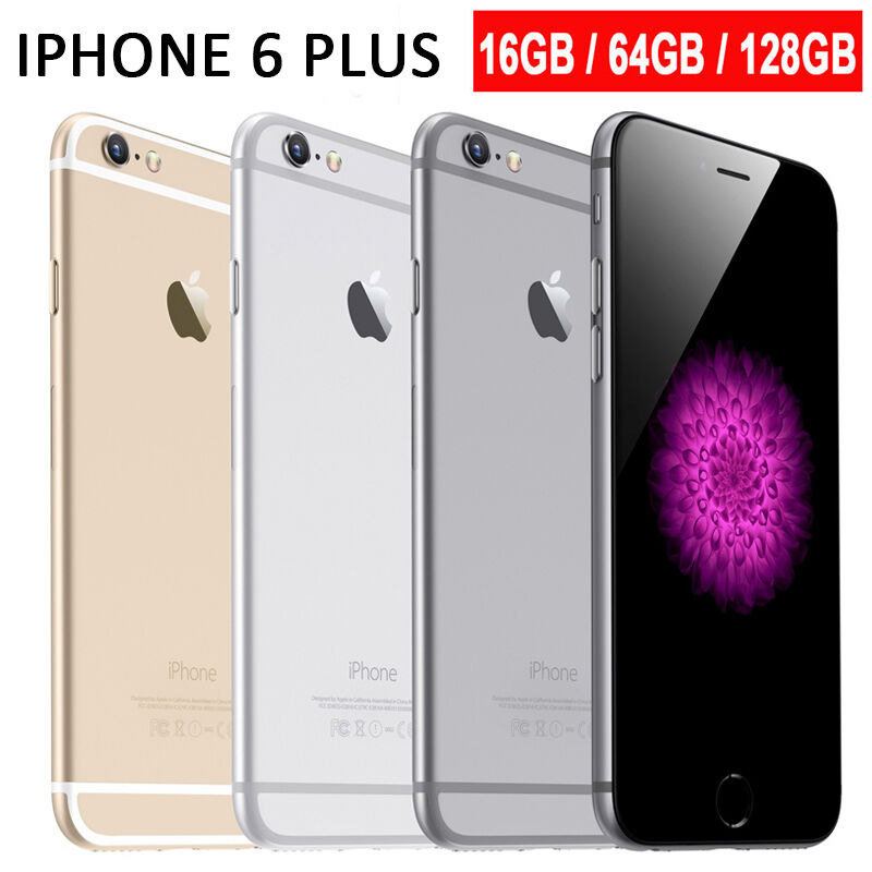 apple iphone 6 plus 16gb 64gb 128gb unlocked sim free. Black Bedroom Furniture Sets. Home Design Ideas