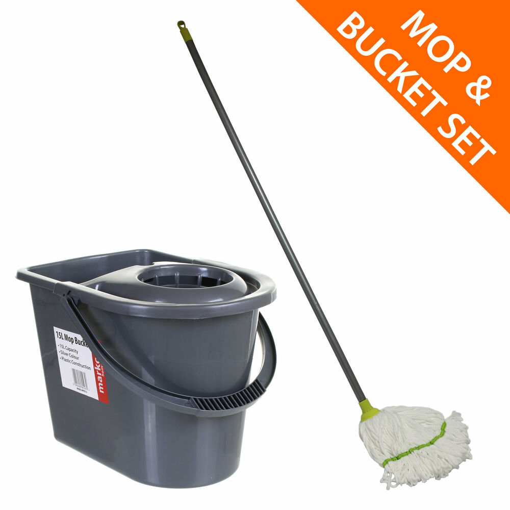 Mop And Bucket Set Microfibre Mop Cloth Easy Clean Quick Dry Floor